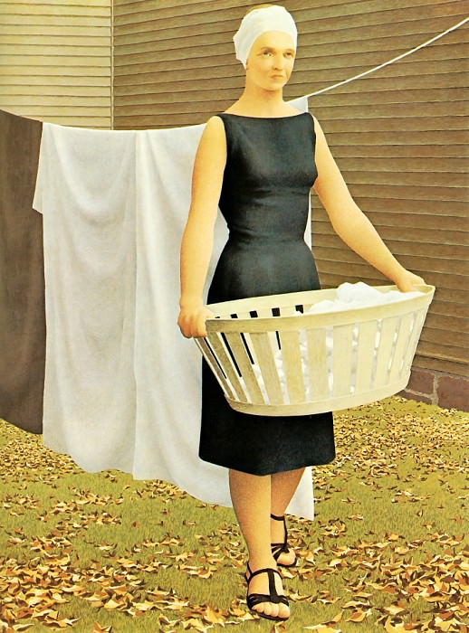 Woman at Clothesline. Alex Colville