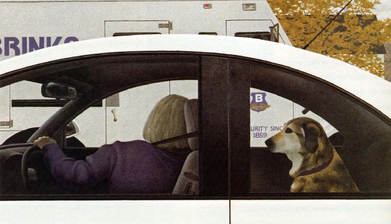 Dog in Car. Alex Colville