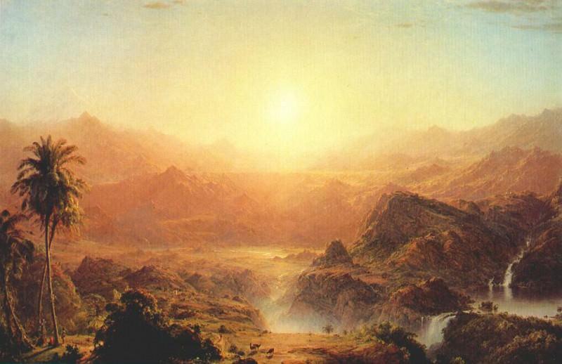 the andes of ecuador 1855. Frederic Edwin Church