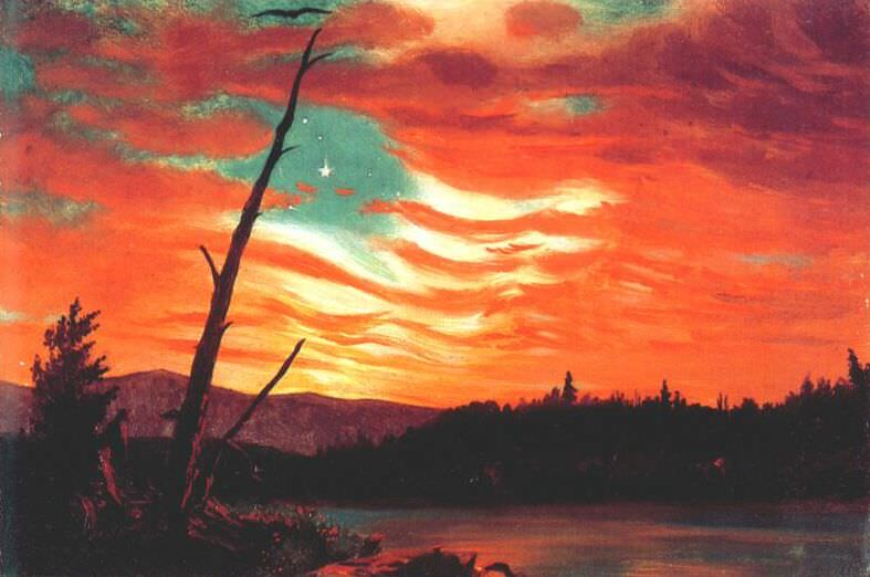 our banner in the sky 1861. Frederic Edwin Church