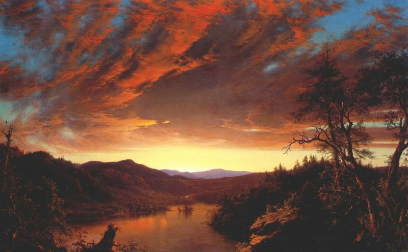 twilight in the wilderness 1860. Frederic Edwin Church