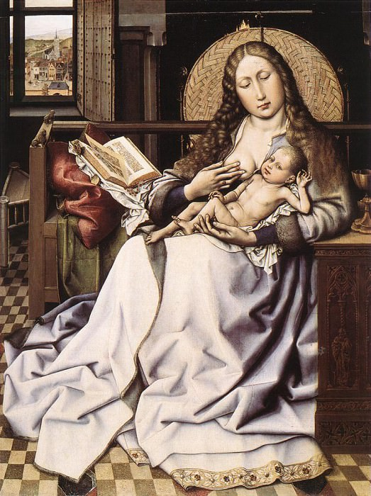 Мадонна с Младенцем (левая панель диптиха). Роберт Кампен