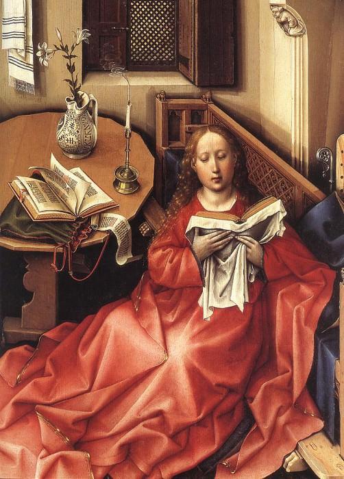 Благовещение (центральная панель триптиха), фрагмент. Роберт Кампен
