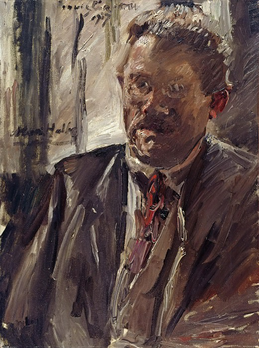 Portrait of Max Halbe. Lovis Corinth