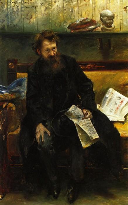 Portrait of the Poet Peter Hille. Lovis Corinth