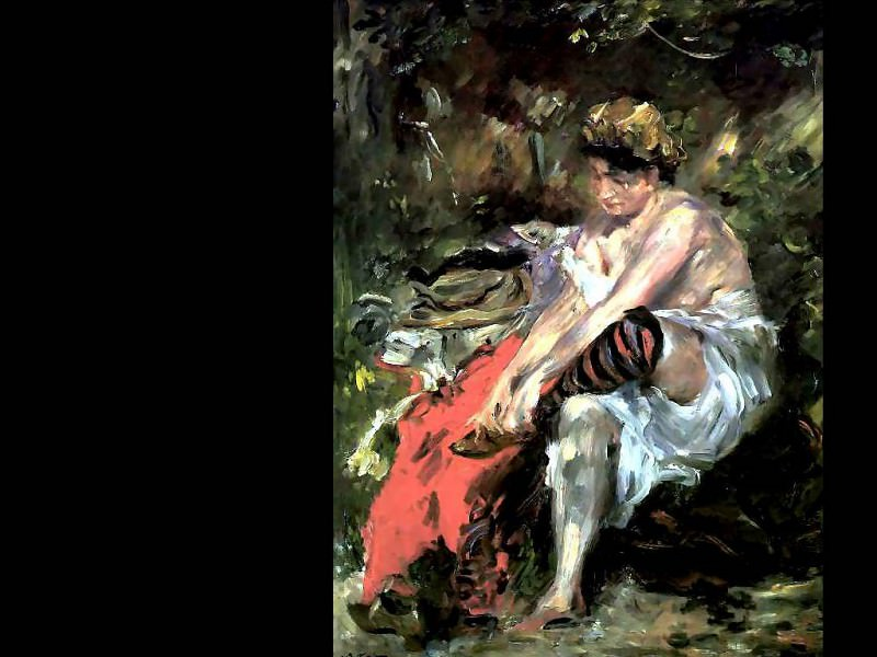 after the bath. Lovis Corinth