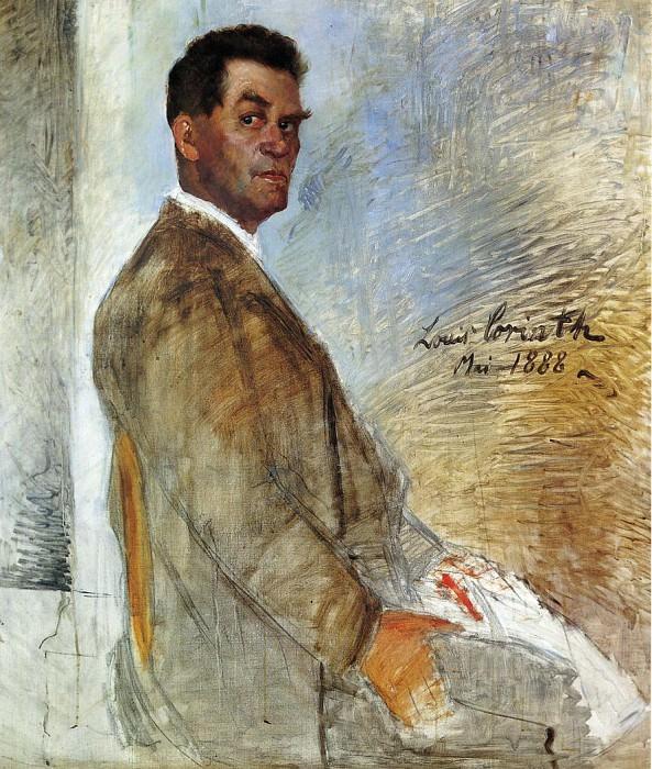 Portrait of Franz Heinrich Corinth unfinished. Lovis Corinth