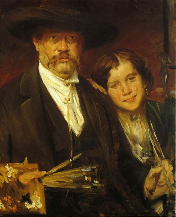 Self Portrait with Model. Lovis Corinth