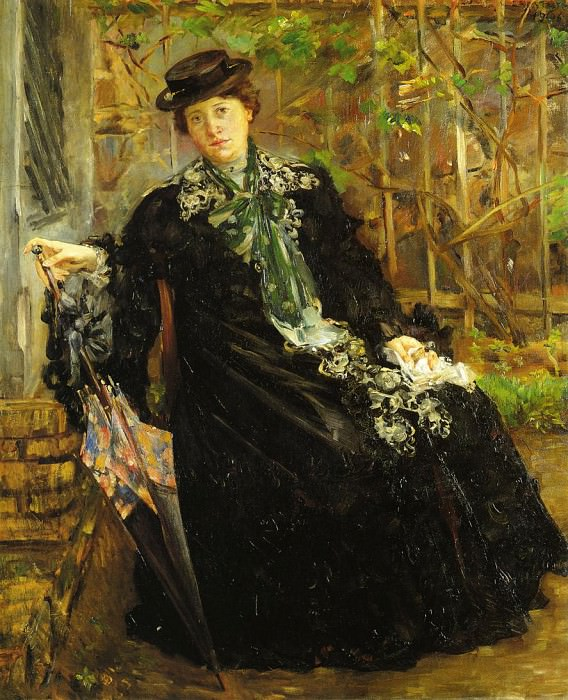 In a Black Coat. Lovis Corinth