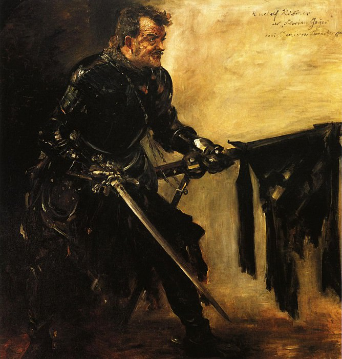 Rudolph Rittner as Florian Geyer First Version. Lovis Corinth