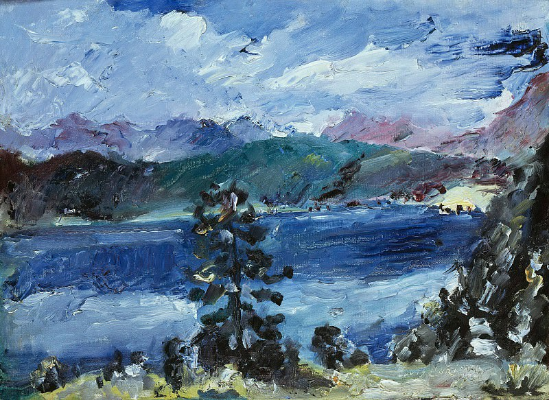 Walchensee with Larch Tree. Lovis Corinth