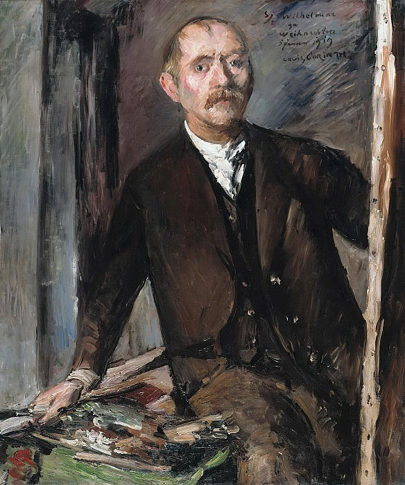 Self-portrait in front of the easel. Lovis Corinth