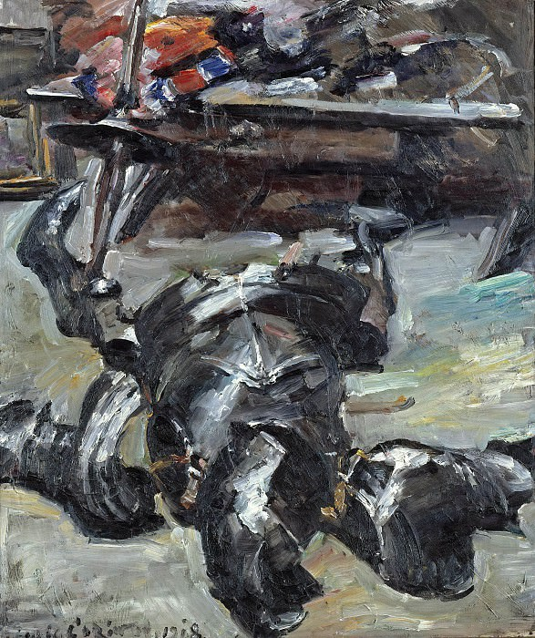 Armour Parts in the Studio. Lovis Corinth