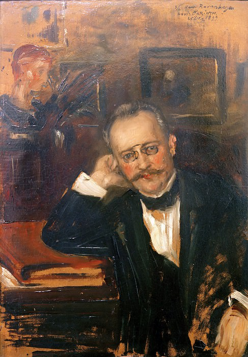 Art critic Hans Rosenhagen. Lovis Corinth