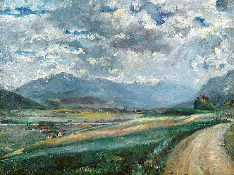 Landscape with views of the valley. Lovis Corinth