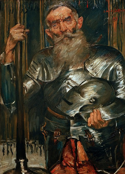 Old man in knights armour. Lovis Corinth