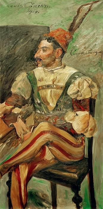 Артур Крафт в образе Чезаре Борджа. Ловис Коринт