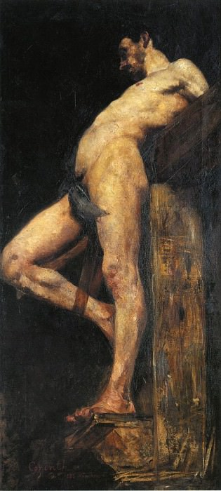 Crucified Thief. Lovis Corinth