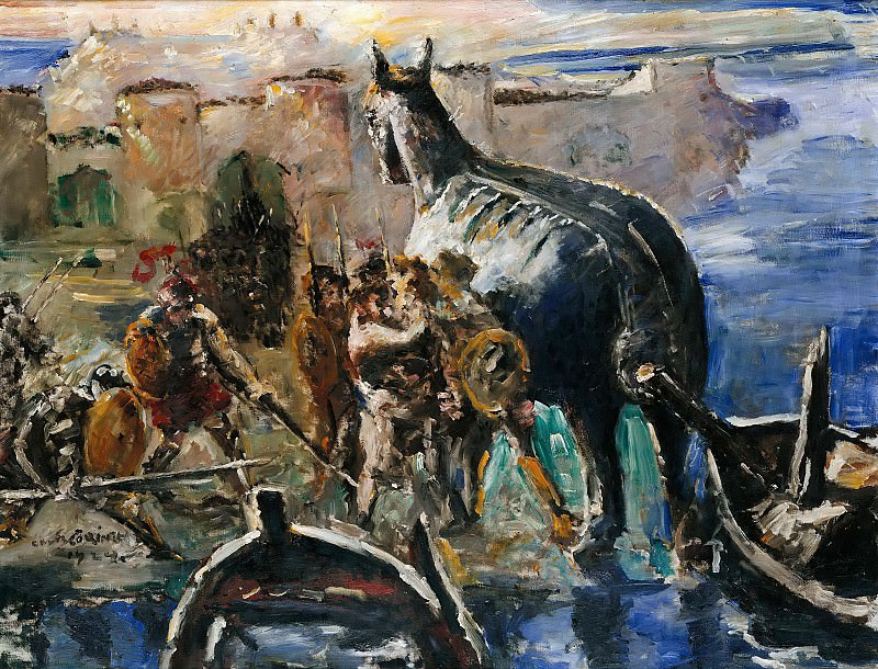 The Trojan Horse. Lovis Corinth