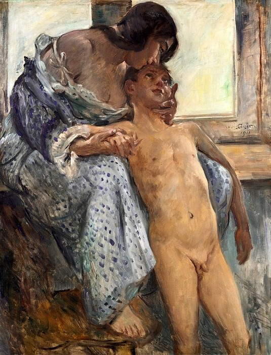 Mothers love. Lovis Corinth