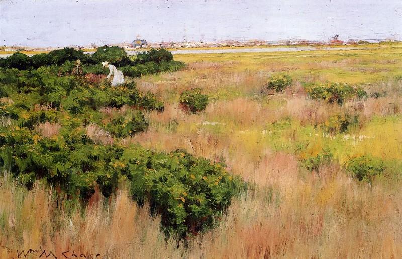 Пейзаж рядом с Кони-Айлендом. Уильям Меррит Чейз