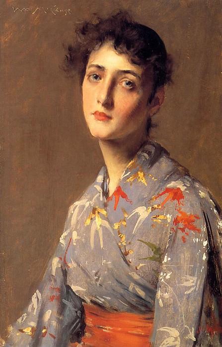Девушка в японском кимоно. Уильям Меррит Чейз