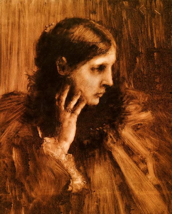 Reverie. William Merritt Chase