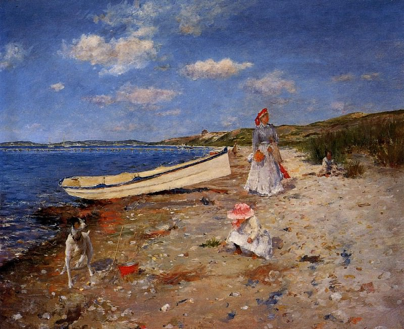 A Sunny Day at Shinnecock Bay. William Merritt Chase