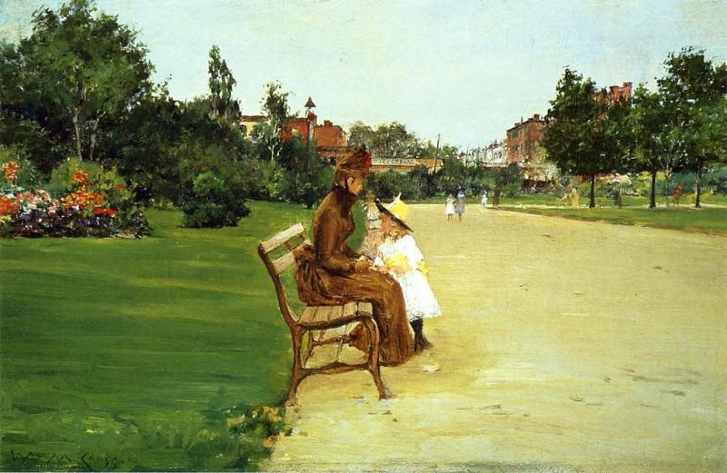 The Park aka In Tompkins Park. William Merritt Chase
