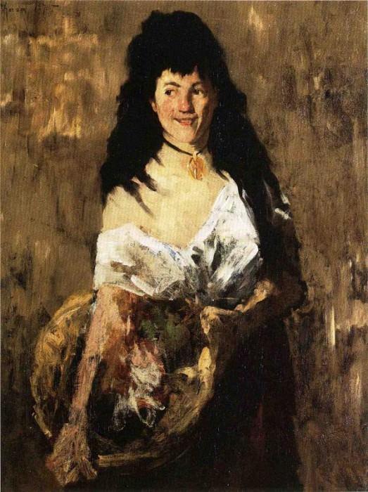 Женщина с корзиной. Уильям Меррит Чейз