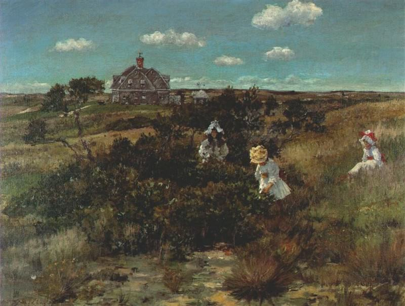 the bayberry bush (chase homestead in shinnecock hills) c1895. William Merritt Chase