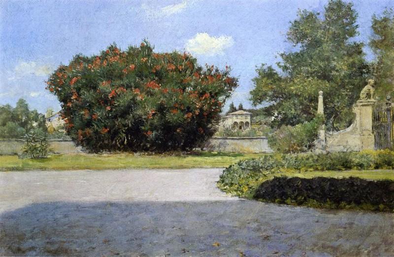 The Big Oleander. William Merritt Chase
