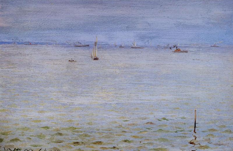 Вид на море, ок.1888. Уильям Меррит Чейз