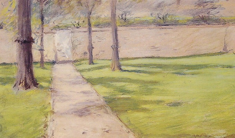 The Garden Wall. William Merritt Chase