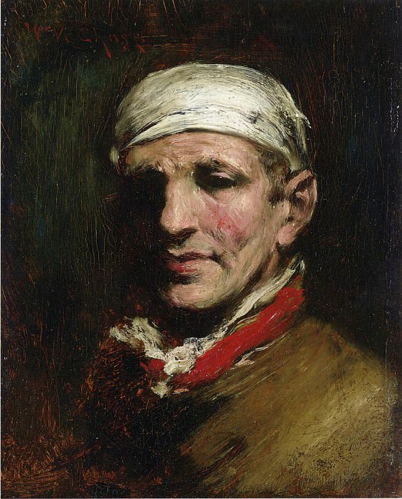 Man with Bandana. William Merritt Chase