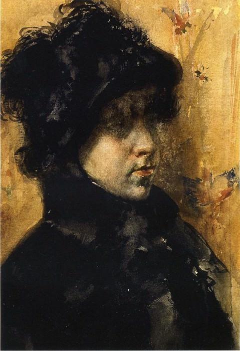 A Portrait Study. William Merritt Chase