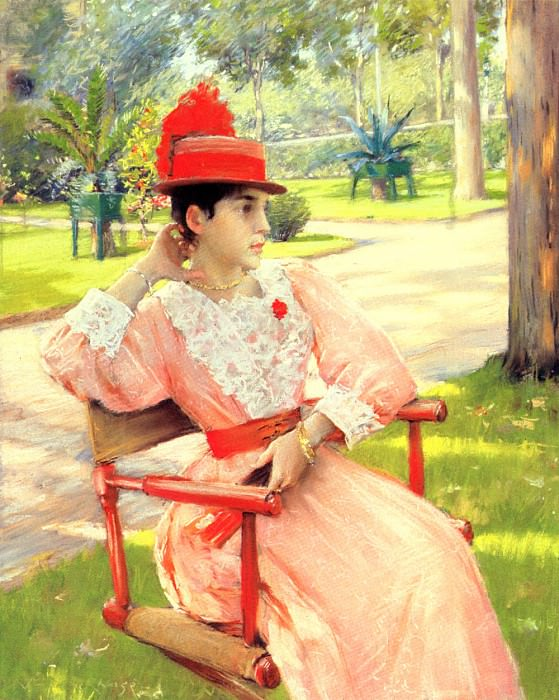 Afternoon In The Park. William Merritt Chase