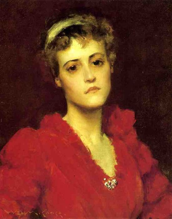 The Red Gown. William Merritt Chase