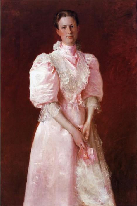 Study in Pink aka Portrait of Mrs. Robert P. McDougal. William Merritt Chase