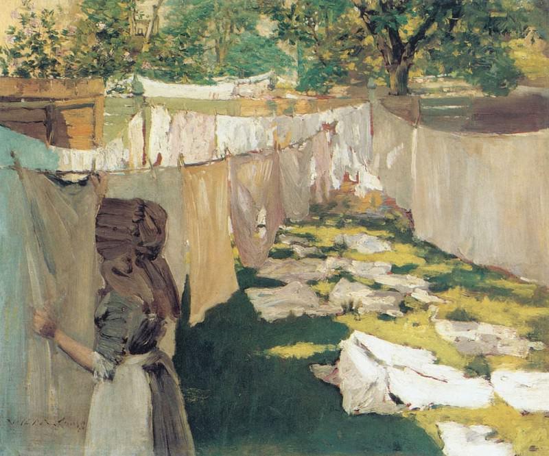 Wash Day. William Merritt Chase