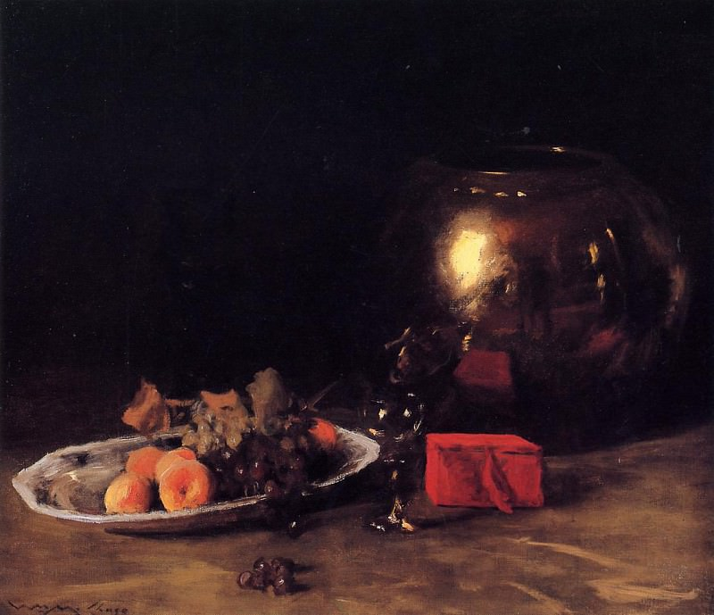 The Big Brass Bowl. William Merritt Chase