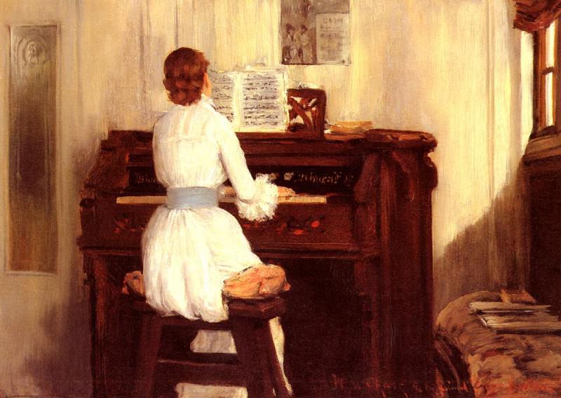 Миссис Мейгс за фисгармонией. Уильям Меррит Чейз