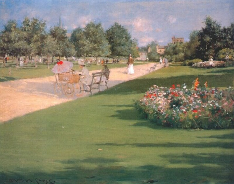 tompkins park (brooklyn) 1887. William Merritt Chase