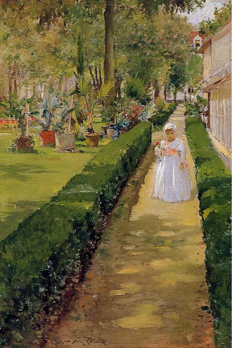 Child on a Garden Walk. William Merritt Chase