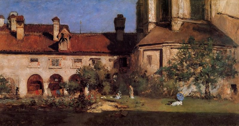 The Cloisters. William Merritt Chase