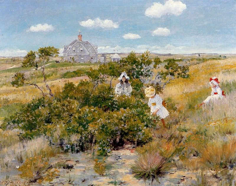 The Bayberry Bush aka Chase Homestead Shinnecock. William Merritt Chase
