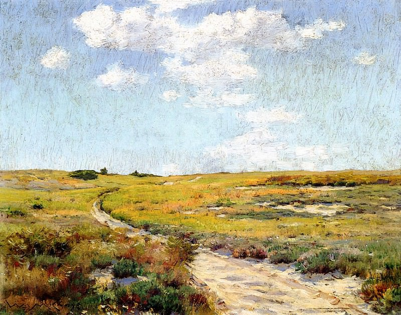 Sunny Afternoon Shinnecock Hills. William Merritt Chase