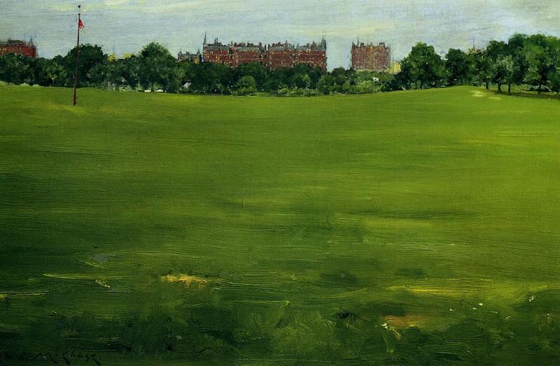 The Common Central Park. William Merritt Chase