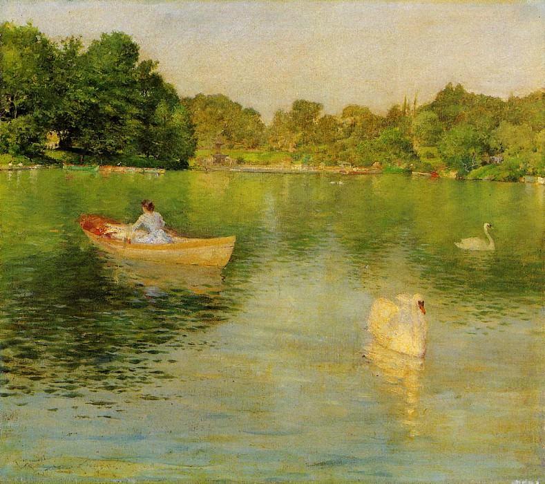 На озере в Центральном парке. Уильям Меррит Чейз