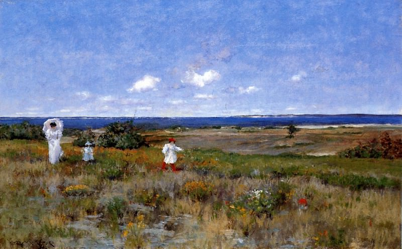 Near the Beach Shinnecock. William Merritt Chase
